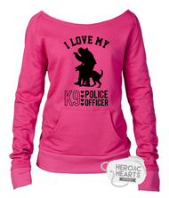 I Love My K9 Police Officer Shirt