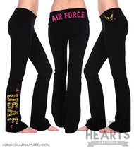 Air Force Leopard & Glitter Yoga Pants