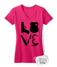 LEO Block Love Weapons Shirt