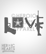 Army Love Weapons Decal
