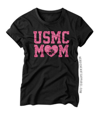 USMC Mom Heart Shirt