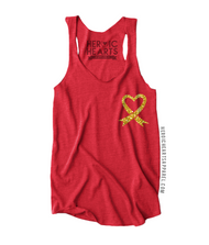 Red Friday Heart Ribbon Top