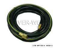 Power Cable Hose For WP17 TIG Welding Torch 11-1/2 Feet 3.7M 3/8-24 & M16*1.5