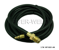 Power Cable Hose For WP18 TIG Welding Torch 11-1/2 Feet Miller Type & 7/8-14