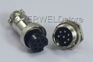 7pins Socket Connector Aviation Plug 16-7P Male+ Female Metal Self Locking 1 Set