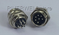 7 pins Air Connector Aviation Plug Male 16-7P Fit TIG & Plasma cutting Torch 2pk