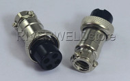 4 pins Sockets Connector Aviation Plug Female 16-4P Fit TIG & Plasma Torch 2pk