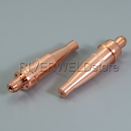 2pcs Acetylene Cutting Tips 1-101 SIZE 2 for VICTOR Style Torch