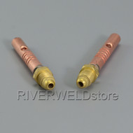 57Y10 Gas & Power Cable Adapter Fit WP-17 WP-9 WP-24G 24W TIG Welding Torch 2pk