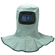 Leather Welding Protective  Hood Helmet With Auto Dark Filter Lens Welding Safety Face Shield