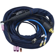 WP-24W TIG Welding Torch with CK35-70 Plug connector & Quick Fitting Connector Water Cooler 180Amp