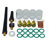 TIG Gas Lens Collet Body & #10 Pyrex Cup Kit DB SR WP 9 20 25 TIG Welding Torch