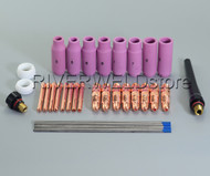2% TIG Lanthanate Tungsten and TIG Collet Body Kit Fit CK SR DB PTA WP 17 18 26 TIG Welding Torch 36pcs