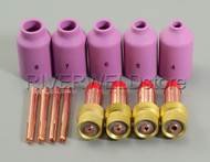 TIG Gas Lens Collet Body Accessory Consumables Kit TIG Welding Torch WP-17 WP-18 WP-26 13pcs