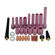 TIG Alumina Nozzle Back Cap Collet Body Assorted Size Fit SR WP 9 20 25 TIG Welding Torch 29pcs