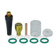 "#10 Pyrex Cup and TIG Gas Lens Collet Body 1/16"" Kit CK WP 9 20 25 TIG Welding Torch 9pcs"