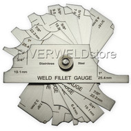 7piece Fillet weld set gage RL gauge Welding Inspection Test Ulnar Metric & inch