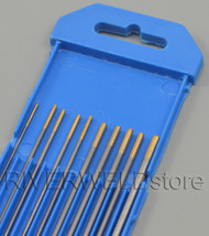 "1.5% Lanthanated TIG Welding Tungsten Electrode WL15 Assorted Size 040""~1/8 10pcs"