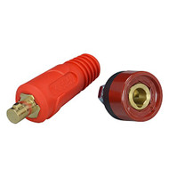 Quick Fitting Dinse Cable connector-Plug and Socket DKJ35-50 & DKZ35-50 With Red Color