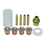 Gas Saver Pyrex Cup Consumable Kit for WP SR 9 20 25 TIG Welding Torch 11pcs