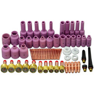 TIG Gas Lens KIT,Back Cap Collet Body Fit TIG Welding Torch SR WP17 18 26,67PK