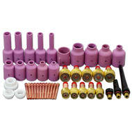 TIG Gas Lens KIT,Back Cap Collet Body Fit TIG Welding Torch SR WP17 18 26,43PK