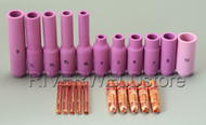 21pcs WP DB 17 18 26 Series TIG welding Torch long replacement spare kits