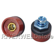 Quick Fitting Cable connector Socket DKZ10-25 with Red Color for Welding Machine