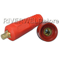 Quick Fitting Cable Connector-Plug + Socket with Red Color for Welding & cutting