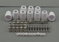 50pcs LG-40 PT-31 Plasma Cutting Torch Consumables EXTENDED Nickel-plated CUT-50