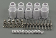 40pcs LG-40 PT-31 Plasma Cuter Consumables Extended Nickel-plated CUT-50 CT-312