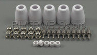 30pcs LG-40 PT-31 Plasma Cutter Torch Consumables Common Nickel-plated CUT-40 30