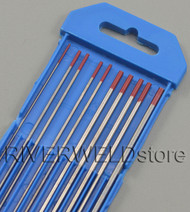 """2% Thoriated WT20 TIG Tungsten Electrode 7"""" Assorted Size 040-1/16-3/32-1/8,10PK"""