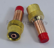 "45V27 1/8"" 3.2mm TIG Gas Lens Collets Body Fit DB SR WP 17 18 26 TIG Torch 2PK"