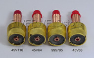 45V116 45V64 995795 Large TIG Gas Lens Collet Bodies SR WP 17 18 26 Torch 4PK