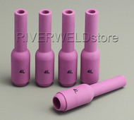 10N50L #4L Long Alumina Nozzles Fit SR PTA DB WP 17 18 26 TIG welding Torch 5PK