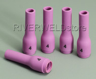 796F71 4# Long Alumina cups Nozzles Fit DB WP SR 9- 20 25 TIG welding Torch 5PK