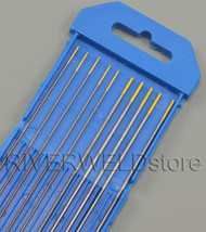 "1.5% Lanthanated TIG Welding Tungsten Electrodes Assorted Size 0.040""(5pcs) & 1/16""(5pcs)"