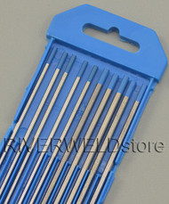 "2% Lanthanated Sky Blue TIG Tungsten Electrode Assorted Size 3/32""(5pcs) and 1/8""(5pcs)"