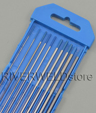 "2% Lanthanated Sky Blue Tungsten Electrode Assorted Size 040""-1/16""-3/32""-1/8"",10pcs"