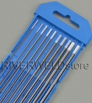 "0.8% Zirconiated WZ8 TIG Welding Tungsten Electrode Assorted Size 040""~1/8"",10pcs"