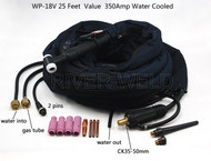WP-18V-25-2 TIG Welding Torch Valve Water Cooled 350Amp