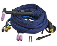 WP-18V-12-2 TIG Welding Torch Valve Water Cooled 350Amp 12 Feet