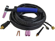 WP-26V-12E-2 TIG Welding Torch Body With Valve 200A Air Cooled