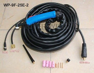 WP-9F-25E-2 CK25 TIG Welding Torch Flexible Air Cooled 25 Feet