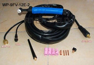WP-9FV-12E-2 CK25 TIG Welding Torch Body Flexible With Valve 12 Feet