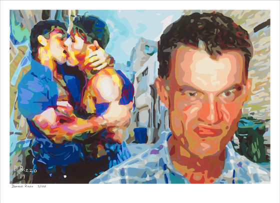 Shop for Gay Male Art cock blocked a limited edition print by San Francisco artist Donald Rizzo. Donald Rizzo paints kaleidoscopic visions of vibrant colors.