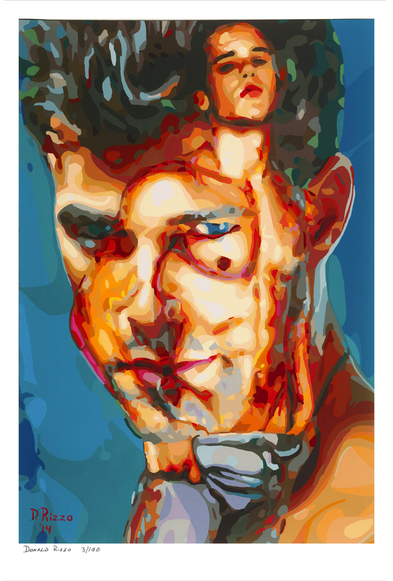 Shop for Gay Male Art Gazzoni a limited edition print by San Francisco artist Donald Rizzo. Donald Rizzo paints optical illusions in a style call Ambiguous Delusions.