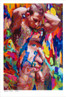 Shop for Gay Male Art Gut feeling a limited edition print by San Francisco artist Donald Rizzo. Donald Rizzo paints optical illusions in a style call Ambiguous Delusions.
