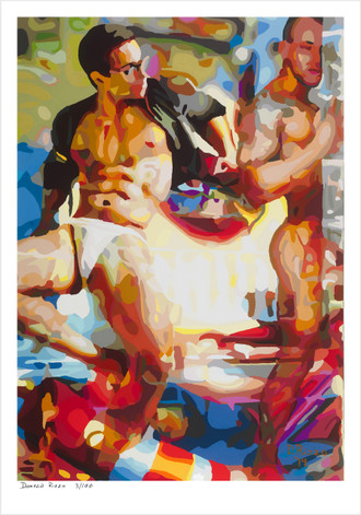 Shop for Gay Male Art and Limited edition prints by San Francisco artist Donald Rizzo. Donald Rizzo paints kaleidoscopic visions of vibrant colors.